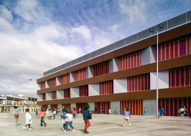 Spain: Elementary School Rosales del Canal, Zaragoza - Magén Arquitectos