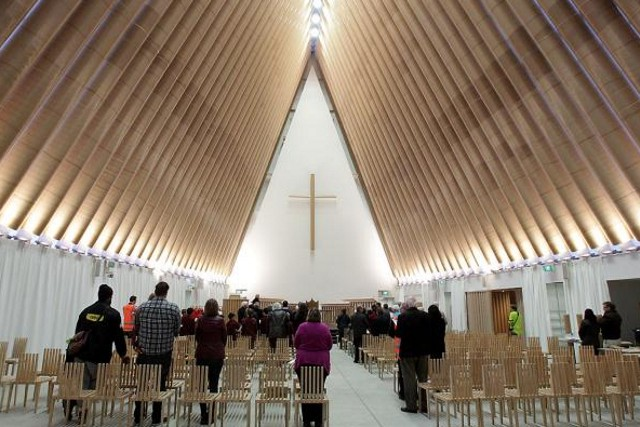 New Zealand: Shigeru Ban cardboard Cathedral in Christchurch opens to the public