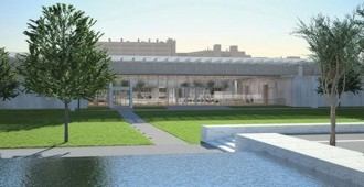 United States: Kimbell Art Museum extension - Renzo Piano... ... construction images