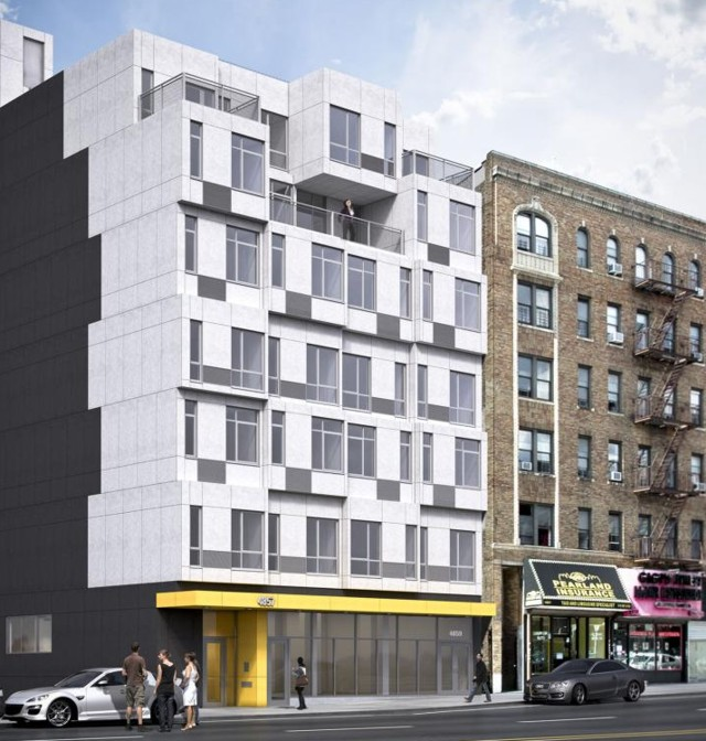 'The Stack', a prefabricated housing in New York - Gluck+